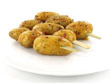 Gemarineerde aardappelbrochet
