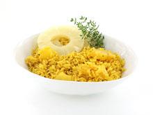 Rijstsalade met ananas