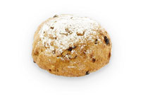 Bruin brood met noten en rozijnen