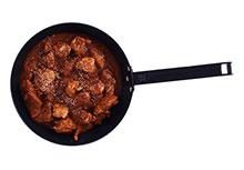 Kip in Indische licht pikante currysaus
