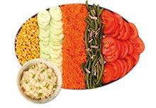Groentenschotel + aardappelsalade