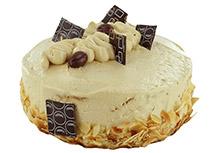 Biscuittaart creme au beurre mokka